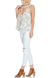 Skies Are Blue Embroidered Halter Top - Front full body