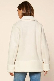 Skies Are Blue Faux Shearling Jacket - Back cropped