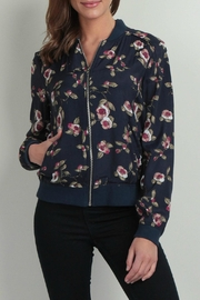 Skies Are Blue Floral Bomber Jacket - Product Mini Image