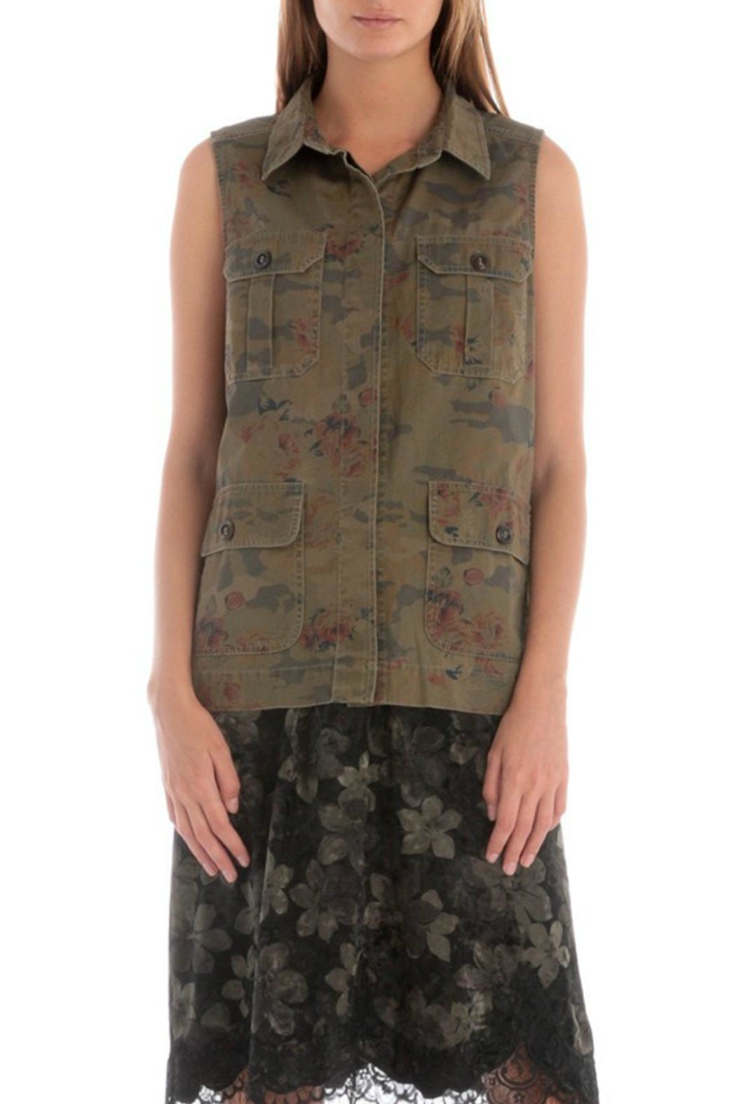 Skies Are Blue Floral Camo Vest - Main Image
