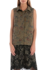 Skies Are Blue Floral Camo Vest - Front cropped