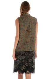 Skies Are Blue Floral Camo Vest - Front full body