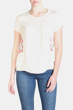Skies Are Blue Floral Embroidered Blouse - Alternate List Image
