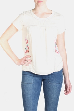 Skies Are Blue Floral Embroidered Blouse - Product List Image