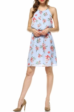 Skies Are Blue Sky Blue Floral Dress - Product List Image