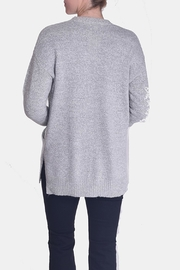 Skies Are Blue Grey Knit Cardigan - Side cropped