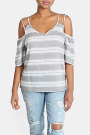 Skies Are Blue Cold Shoulder Blouse - Other