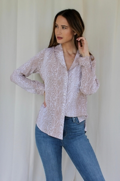 Skies Are Blue Hazelnut Snake Buttonup - Product List Image