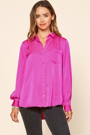 Skies Are Blue Hot Flamingo Shirt - Front cropped