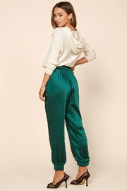 Skies Are Blue Hunter Satin Jogger - Back cropped