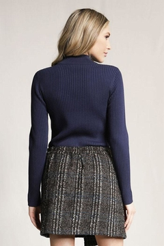 Skies Are Blue Knitted Ribbed Sweater - Alternate List Image