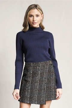 Skies Are Blue Knitted Ribbed Sweater - Product List Image