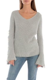 Skies Are Blue Lace Up Sleeve Sweater - Side cropped
