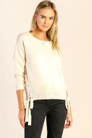Skies Are Blue Lace Up Sweater - Product Mini Image