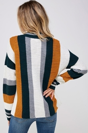 Skies Are Blue Large Stripe Sweater - Back cropped