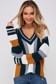 Skies Are Blue Large Stripe Sweater - Product Mini Image