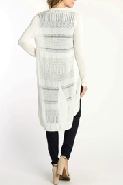 Skies Are Blue Lightweight Pointelle Cardigan - Front full body
