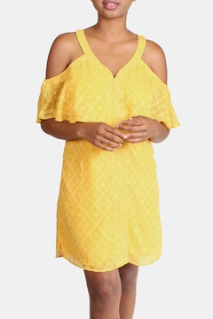 Shoptiques Product: Marigold Tiered Mini-Dress