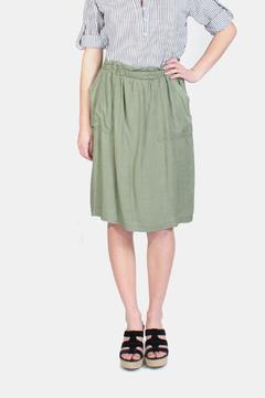 Skies Are Blue Olive Linen Skirt - Product List Image