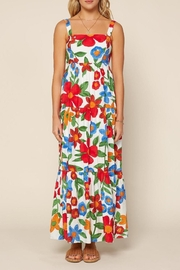 Skies Are Blue Painting The Flowers Maxi Dress - Product Mini Image