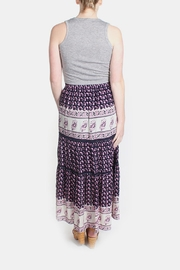 Skies Are Blue Pink Patterned Maxi Skirt - Other