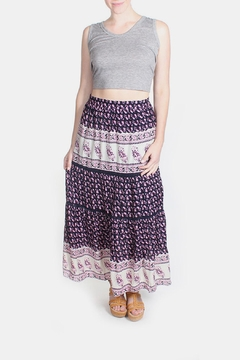 Shoptiques Product: Pink Patterned Maxi Skirt