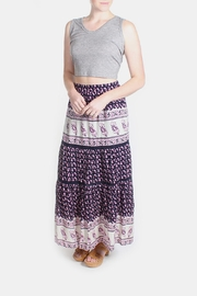 Skies Are Blue Pink Patterned Maxi Skirt - Side cropped