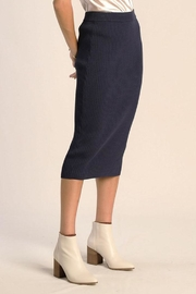Skies Are Blue Ribbed Midi Skirt - Product Mini Image