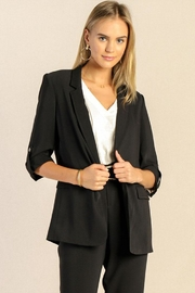 Skies Are Blue Roll Sleeve Blazer - Product Mini Image