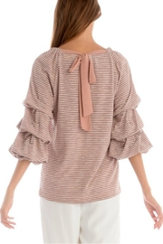 Skies Are Blue Ruched Striped Top - Side cropped