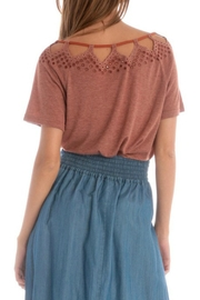 Skies Are Blue Rustic Cut-Out Top - Side cropped