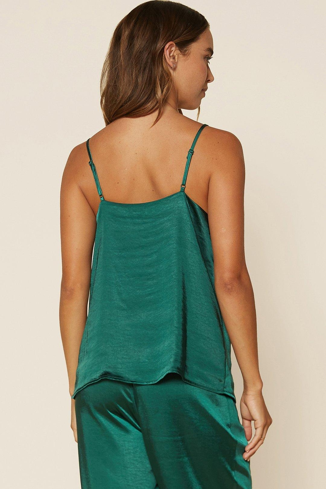 Skies Are Blue Satin Scallop Cami - Back Cropped Image