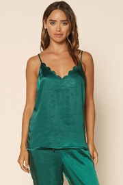 Skies Are Blue Satin Scallop Cami - Front cropped