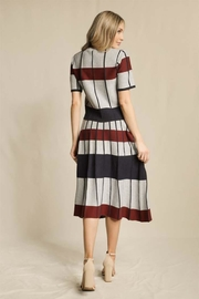 Skies Are Blue Striped Pleated Skirt - Side cropped
