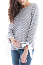 Skies Are Blue Striped Tie Sleeve Top - Product Mini Image