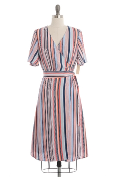 Skies Are Blue Striped Wrap Dress - Product List Image