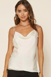Skies Are Blue Tie Strap Cami - Front cropped