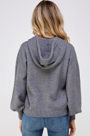 Skies Are Blue Tie Up Hoody - Side cropped