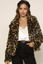 Skies Are Blue Vegan Leopard Jacket - Product Mini Image