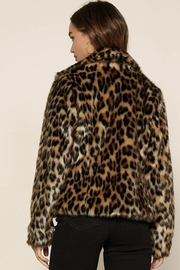 Skies Are Blue Vegan Leopard Jacket - Back cropped