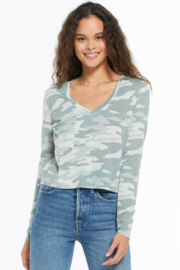 z supply Skimmer Camo Pocket T - Front cropped