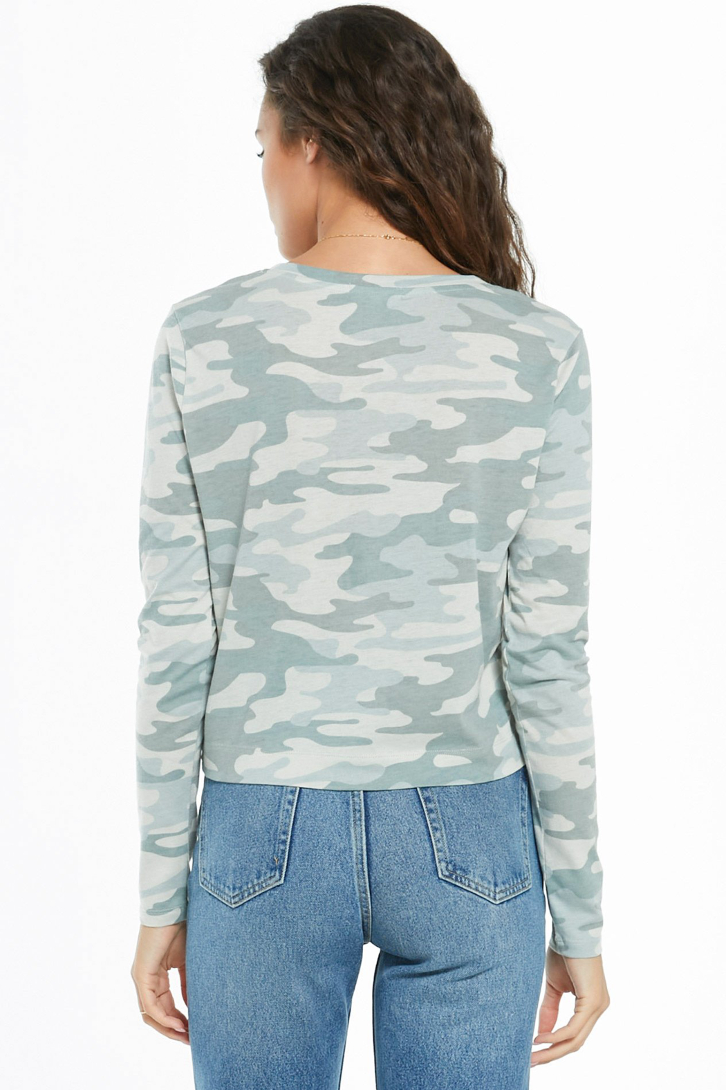 z supply Skimmer Camo Pocket T - Side Cropped Image