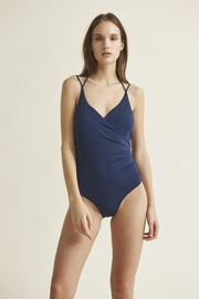 Skin Perry Maillot In Navy - Product Mini Image