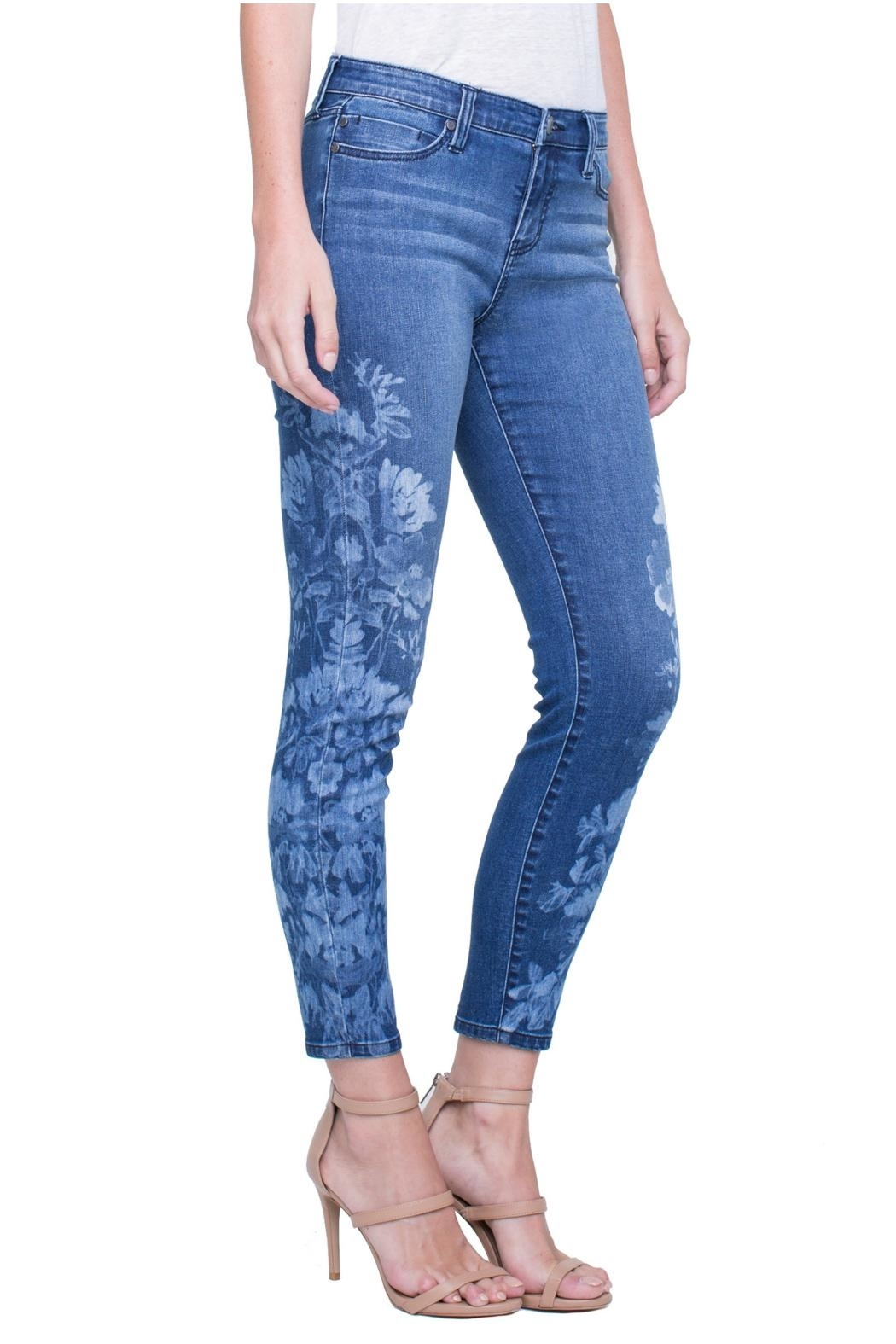 Liverpool Skinny Ankle Jeans - Front Full Image