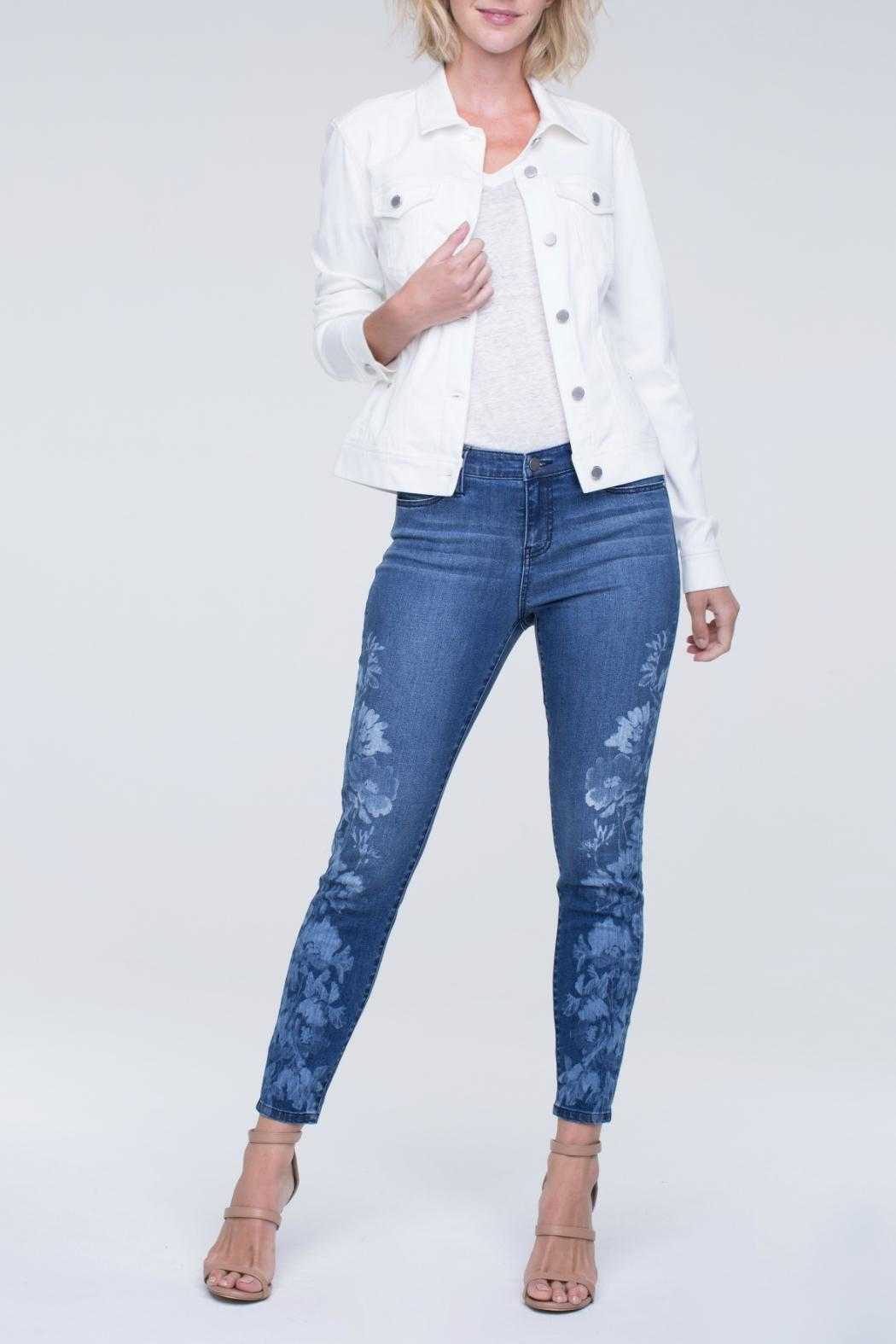 Liverpool Skinny Ankle Jeans - Front Cropped Image
