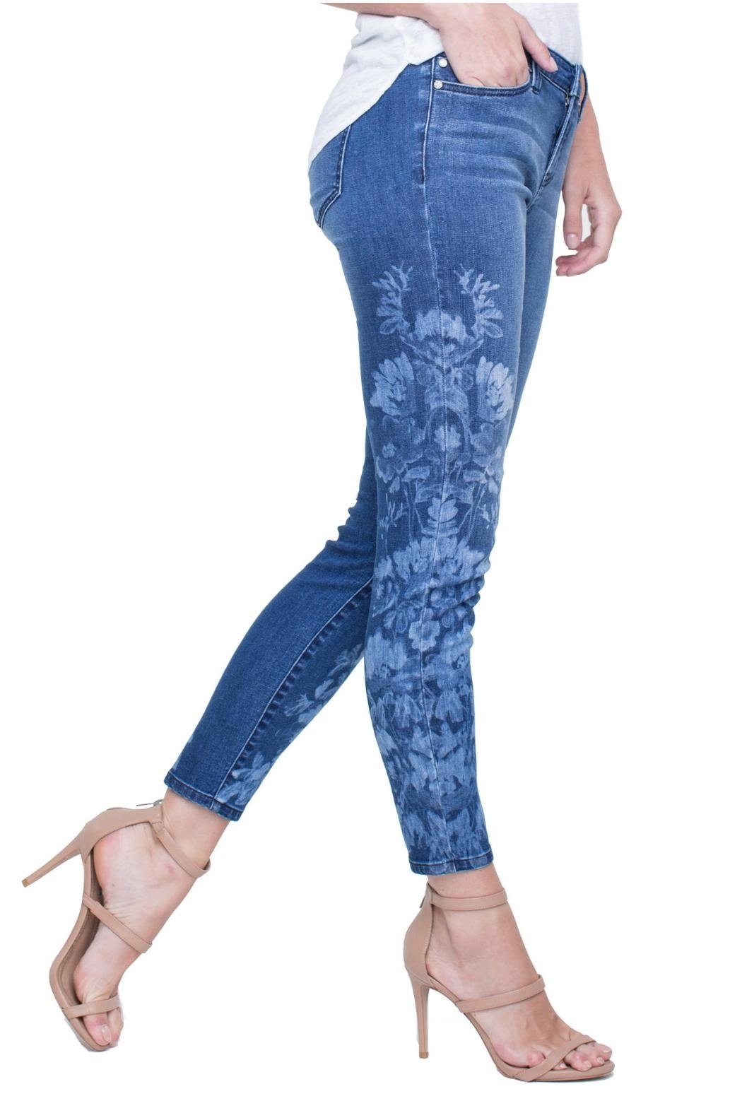 Liverpool Skinny Ankle Jeans - Back Cropped Image