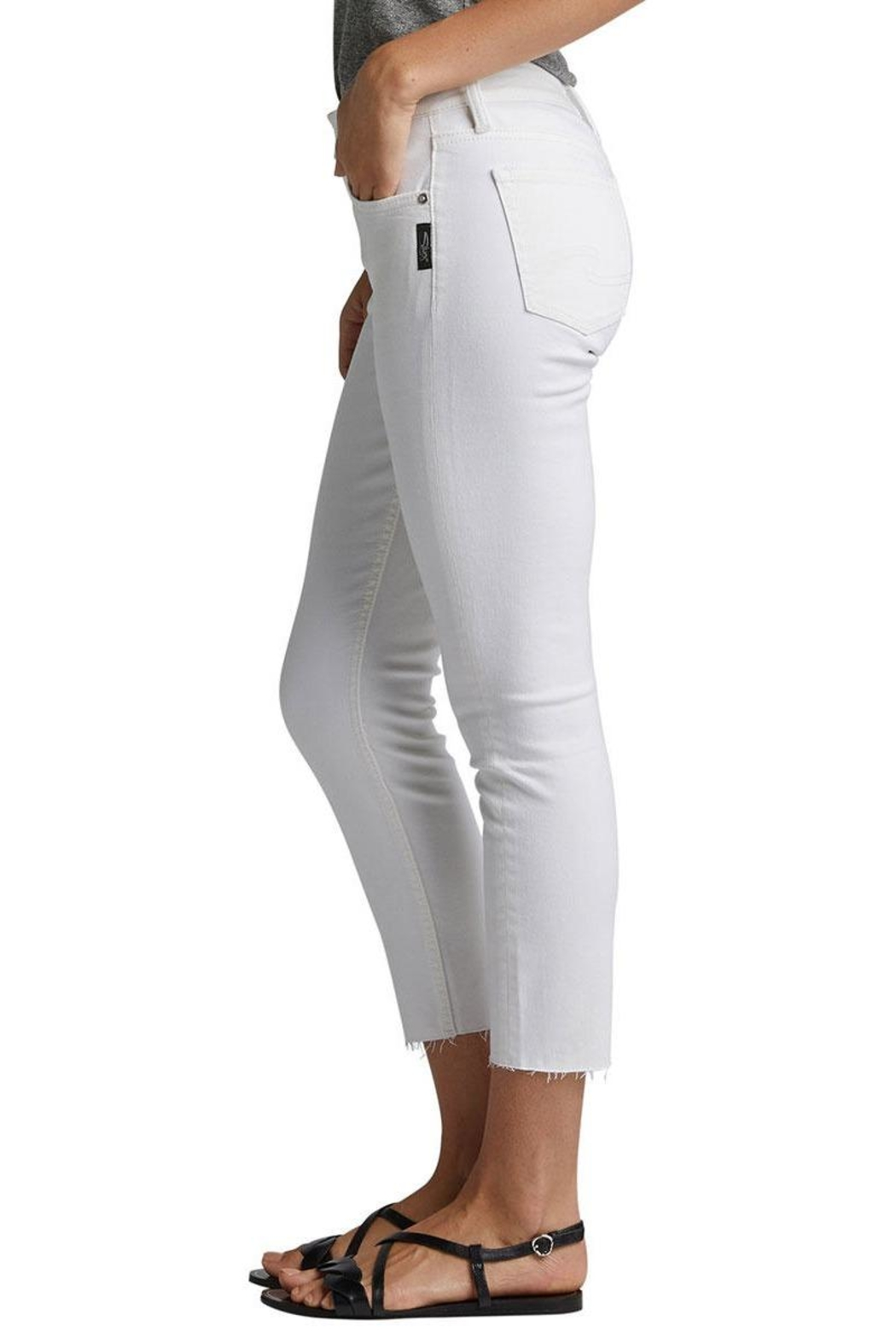 Silver Jeans Co. Skinny Crop Jean - Front Full Image