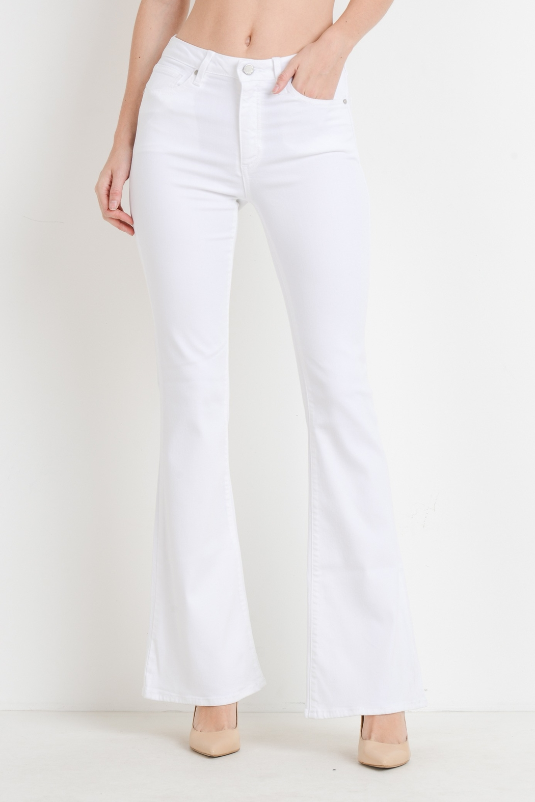just black Skinny Flare Jean - Front Cropped Image