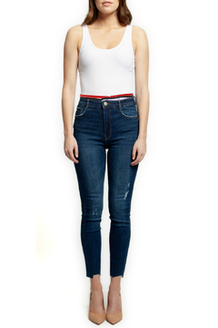 Shoptiques Product: Skinny Jean w Sporty Elastic Waistband