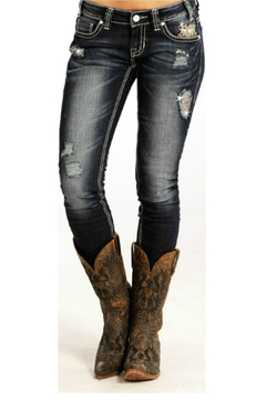 Rock & Roll Cowgirl Skinny Jeans - Product List Image